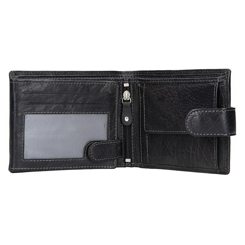 Dámská kožená peněženka SendiDesign Kauko - černá