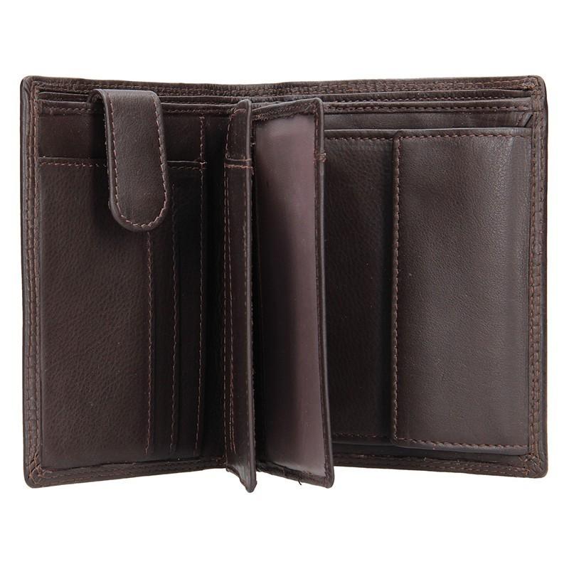 Pánská kožená peněženka SendiDesign 321 - černá