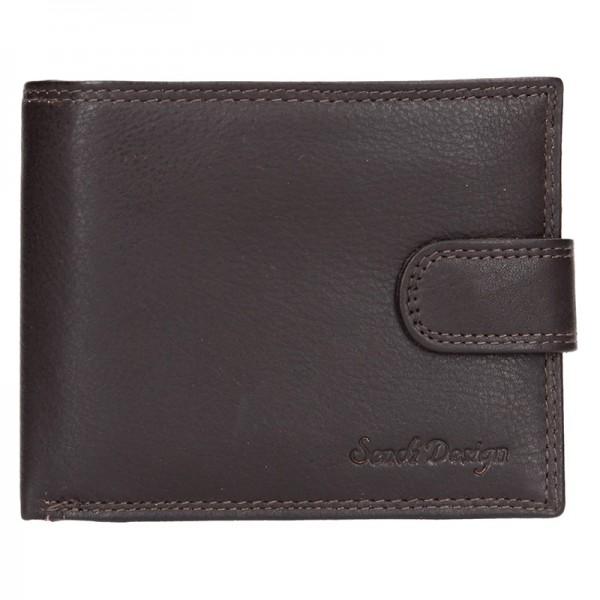 Pánská kožená peněženka SendiDesign Kauko - černá