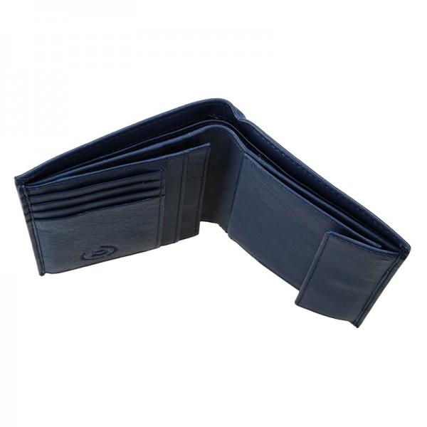 Pánská kožená peněženka Bugatti Armas - modrá
