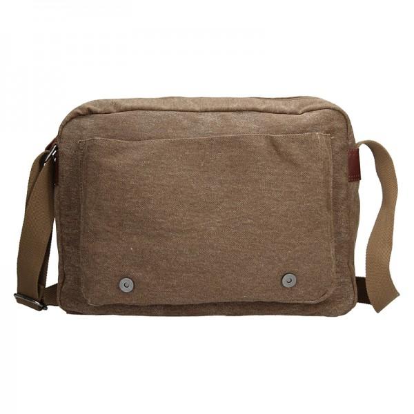 Pánská taška Katana Bredly - hnědo-zelená