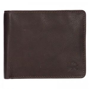 Kožená pánská peněženka Lerros Jhose - hnědá