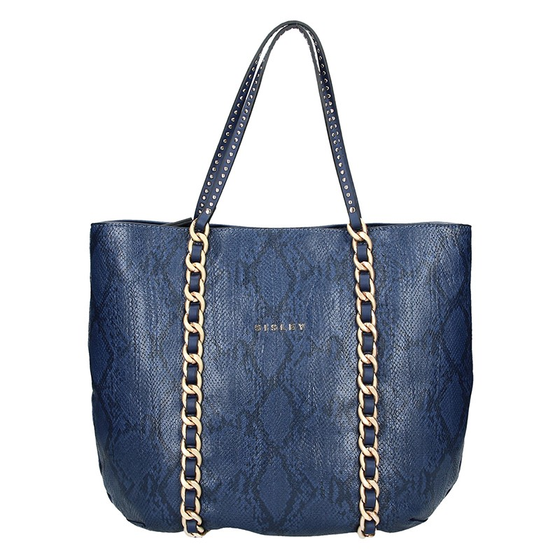 Dámská kabelka Sisley Pavola - modrá 348a65b9d0