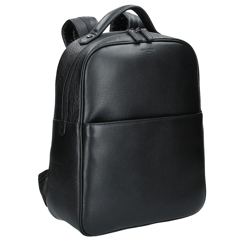 Pánský kožený batoh Hexagona Encore - černá b3ec727e9b