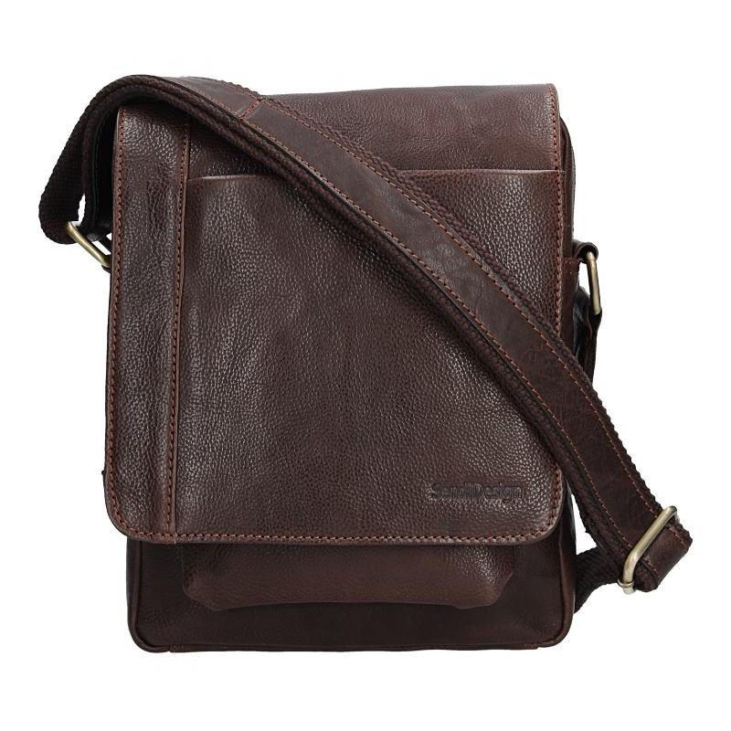 Pánská kožená taška přes rameno SendiDesign CT704 - hnědá