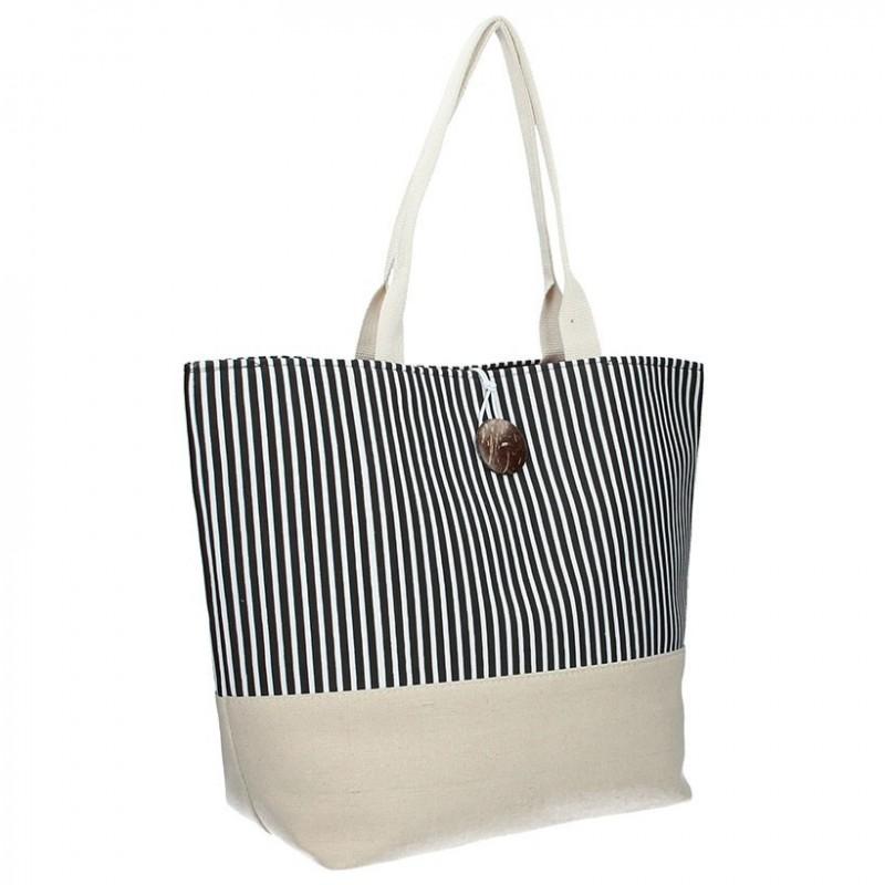 Plážová taška Enrico Benetti 71002 - černá