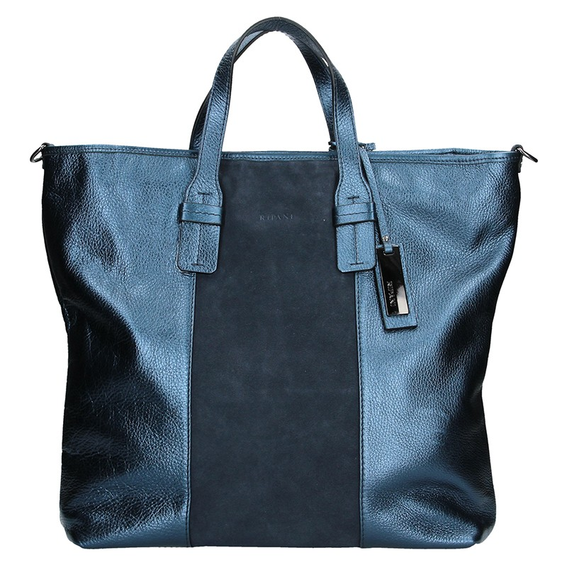 40097b0923 Dámská kožená kabelka Ripani Alba - modrá