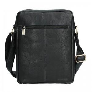 Pánská kožená taška přes rameno SendiDesign CT701 - černá