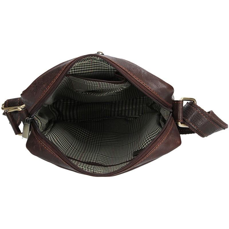 Pánská kožená taška přes rameno SendiDesign CT701 - hnědá
