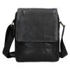 Pánská kožená taška přes rameno SendiDesign CT702 - černá