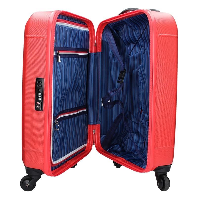 Kabinový cestovní kufr U.S. POLO ASSN. AURE - červená
