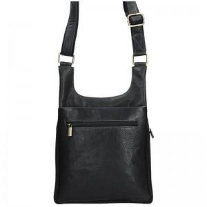 Pánská kožená taška přes rameno SendiDesign CT705 - černá