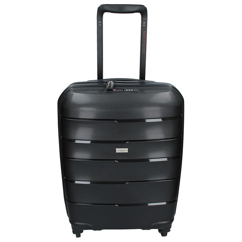 Kabinový cestovní kufr U.S. POLO ASSN. ROUS - černá 31l