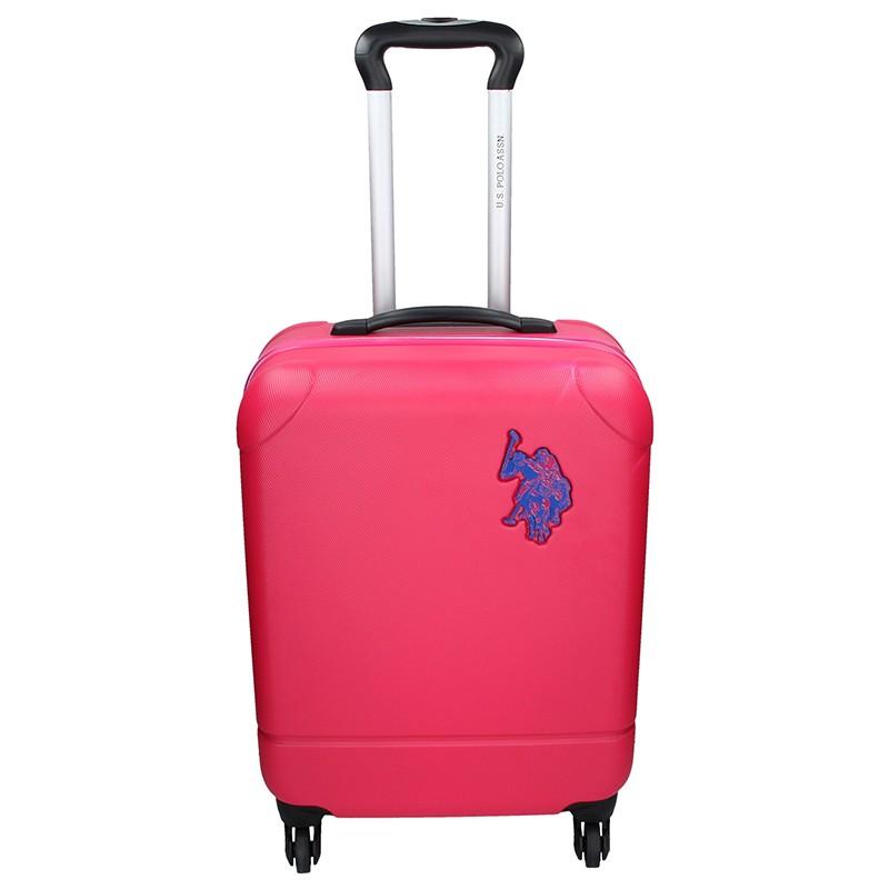 Kabinový cestovní kufr U.S. POLO ASSN PALMS - růžová 34l