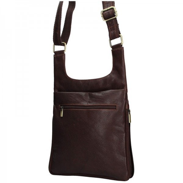 Pánská kožená taška přes rameno SendiDesign CT705 - hnědá