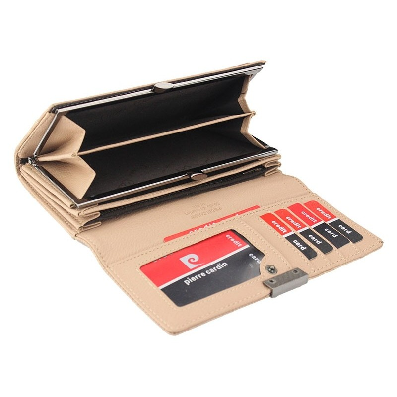 Dámská kožená peněženka Pierre Cardin Karin - béžová
