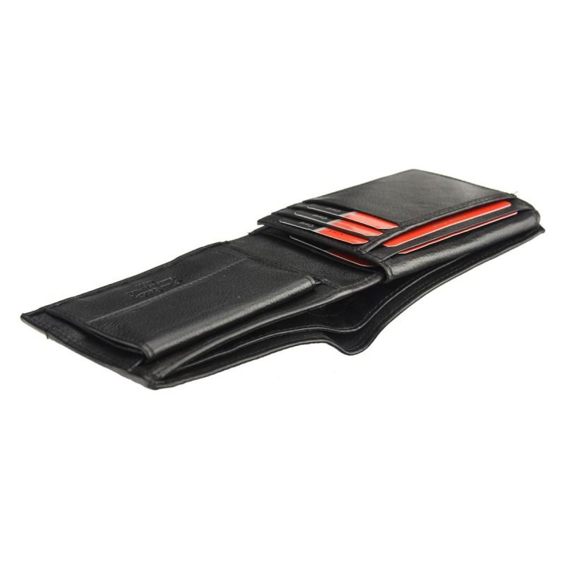 Pánská kožená peněženka Pierre Cardin Roger - černo-červená