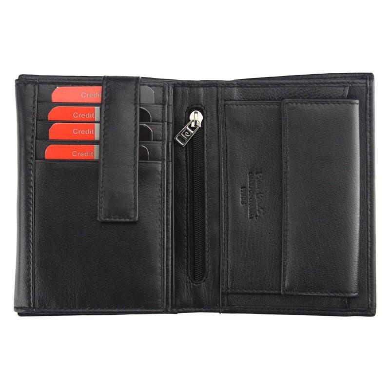 Pánská kožená peněženka Pierre Cardin Serge - černá