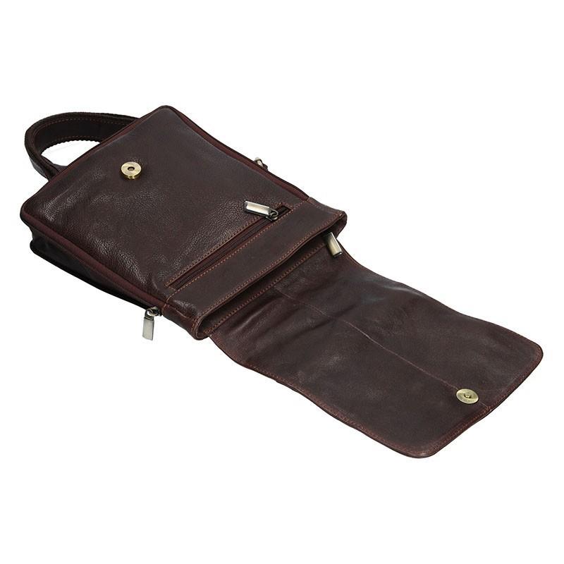 Pánská kožená taška přes rameno SendiDesign CT707 - hnědá