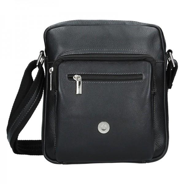 Pánská kožená taška přes rameno SendiDesign David - černá