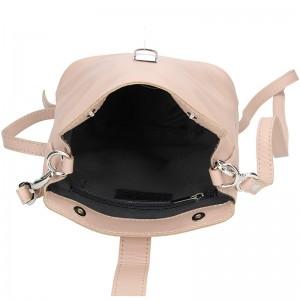 Dámské kožené crossbody Facebag Liliam - béžová