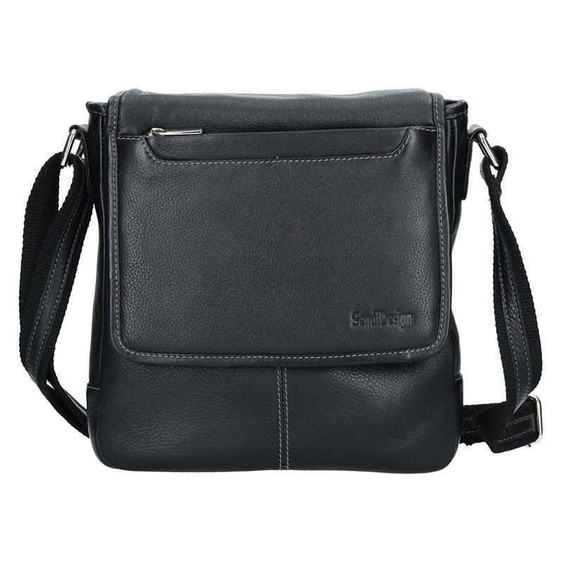 Pánská kožená taška přes rameno SendiDesign Hubert - černá