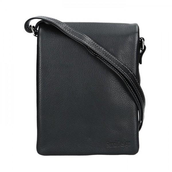 Pánská kožená taška přes rameno SendiDesign Rudolf - černá
