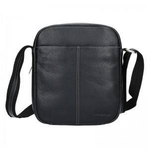 Pánská kožená taška přes rameno SendiDesign Boby - černá
