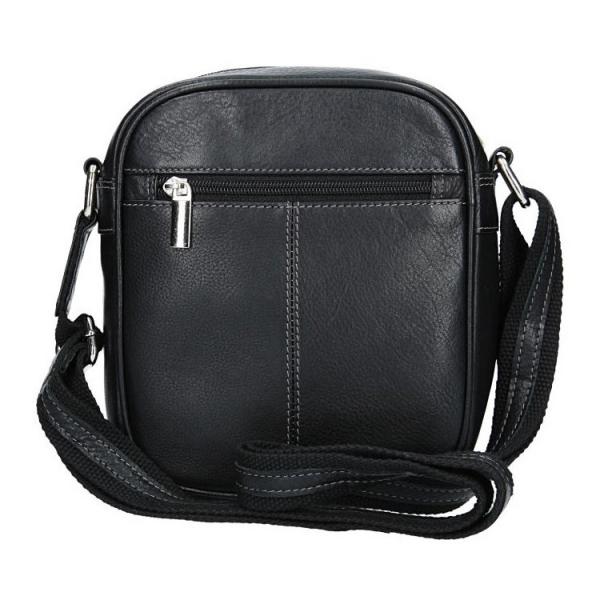 Pánská kožená taška přes rameno SendiDesign Artur - černá