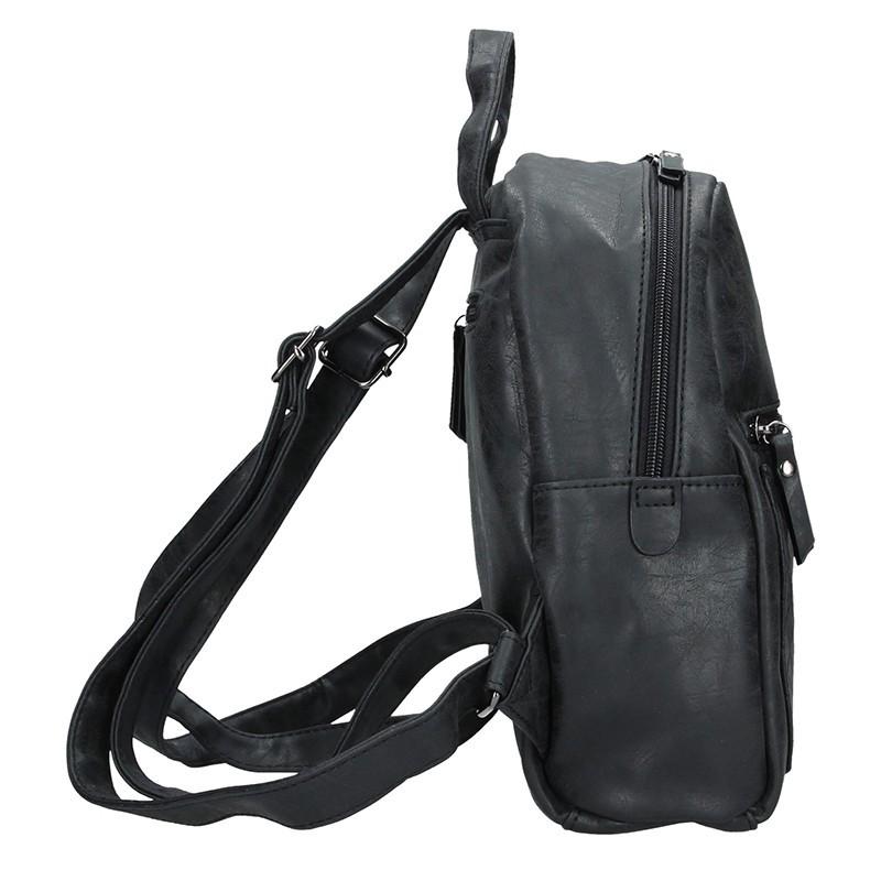 Moderní ekokožený dámský batoh Enrico Benetti Matilda - šedá
