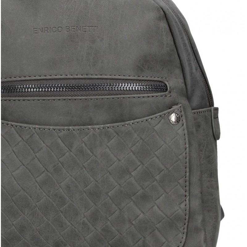 Moderní ekokožený dámský batoh Enrico Benetti Alena - černá