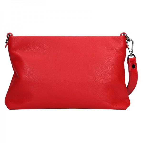 Dámské kožené psaníčko Facebag Haidl - červená