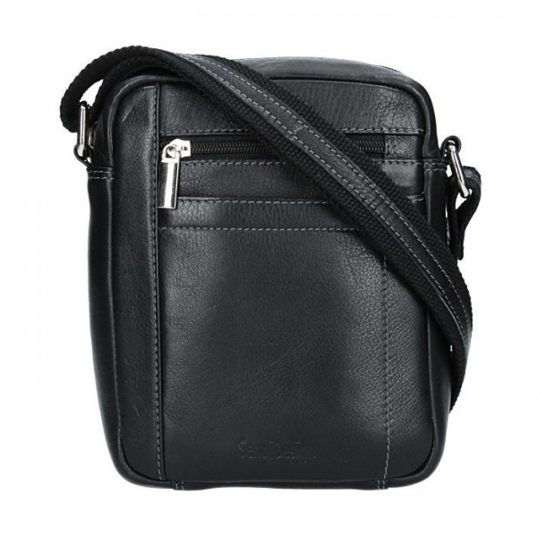 Pánská kožená taška přes rameno SendiDesign Sten - černá