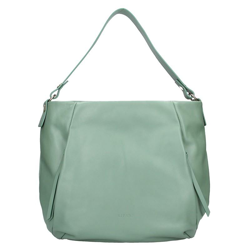 Dámská kožená kabelka Ripani Livra - zelená 89b53f8e05a
