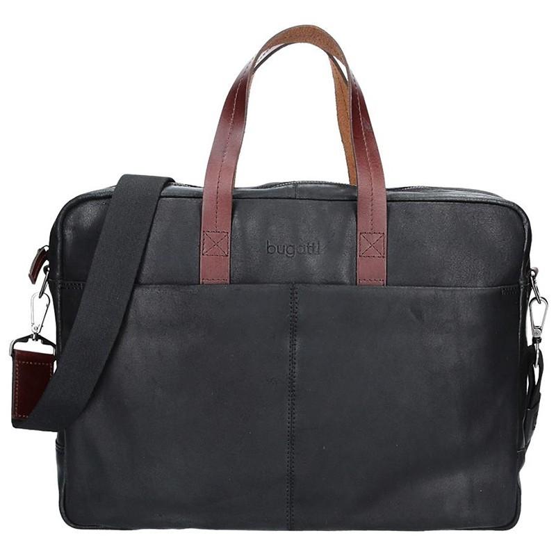 Pánská kožená taška přes rameno Bugatti Elvin - černá