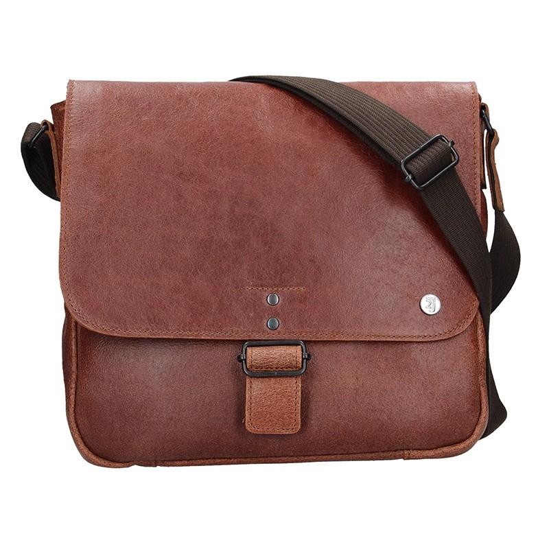 19b353037 Pánská kožená taška 2JUS Stone 2 - hnědá
