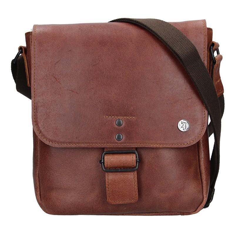 c606b999d6 Pánská kožená taška 2JUS Stone 3 - hnědá