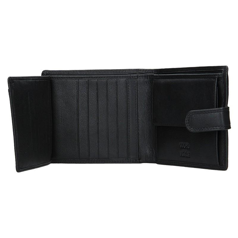Pánská kožená peněženka DD Anekta Hubert - černá