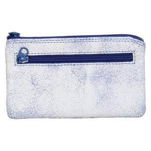 Dámská kožená peněženka DD Anekta Milena - modro-žlutá