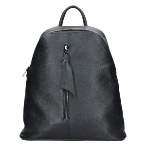 Dámský kožený batoh Italy Nina - růžová