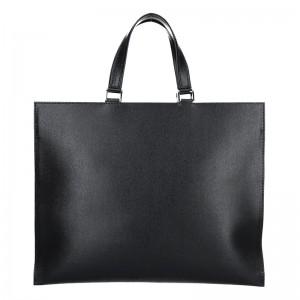 Dámská kožená aktovka Facebag Lexa - černá