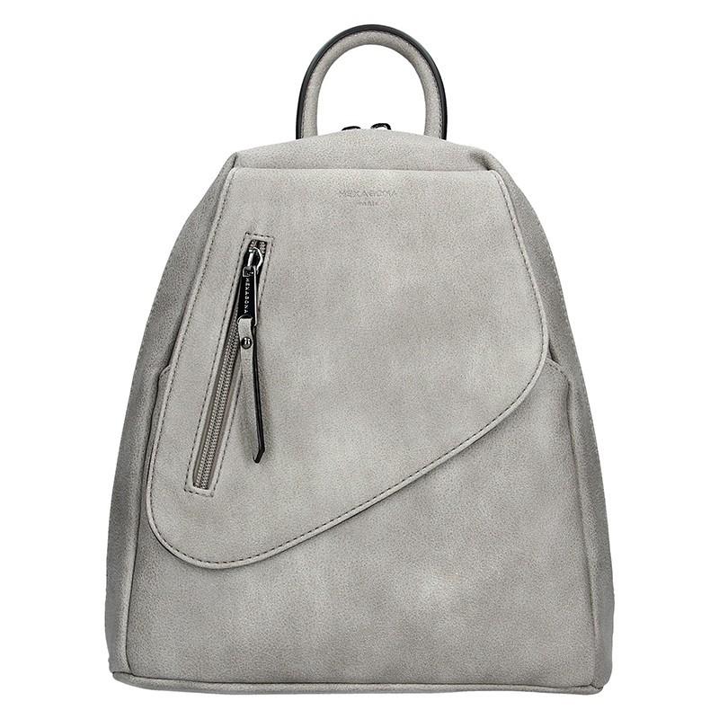 Dámský batoh Hexagona Liliam - šedá 9b9861533f