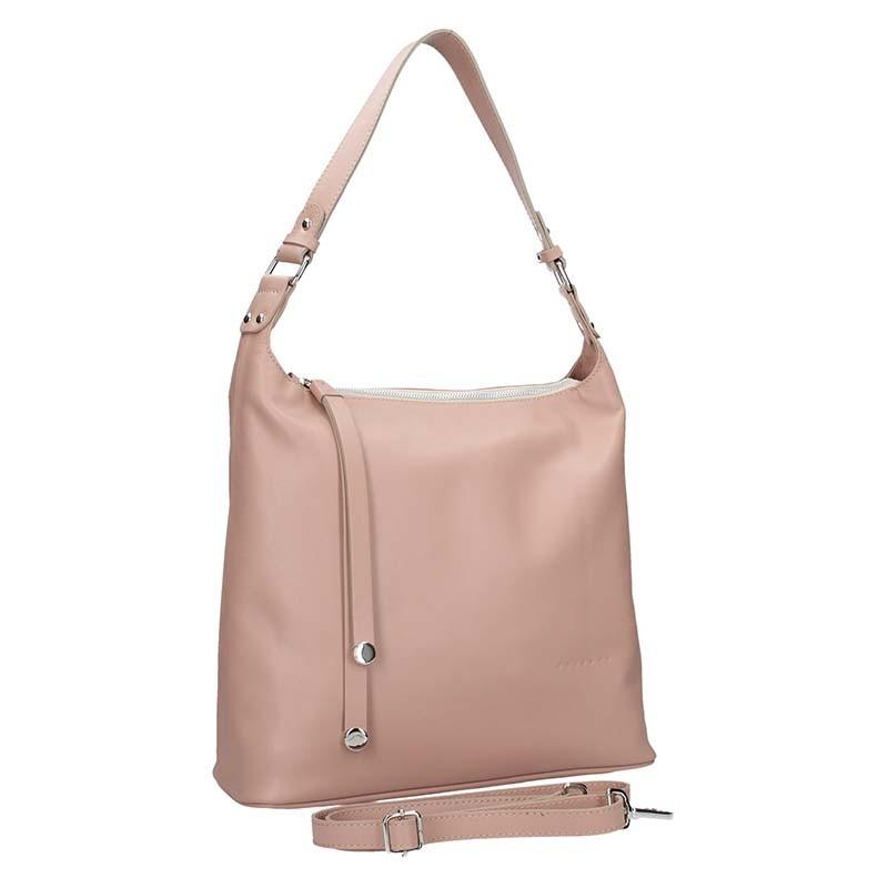 Dámská kožená kabelka Facebag Fionna - černo-stříbrná
