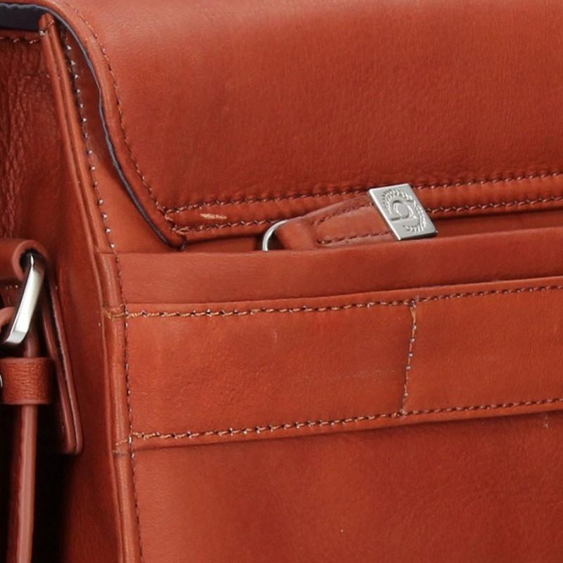 Luxusní pánská kožená aktovka Bugatti Sartora - koňak