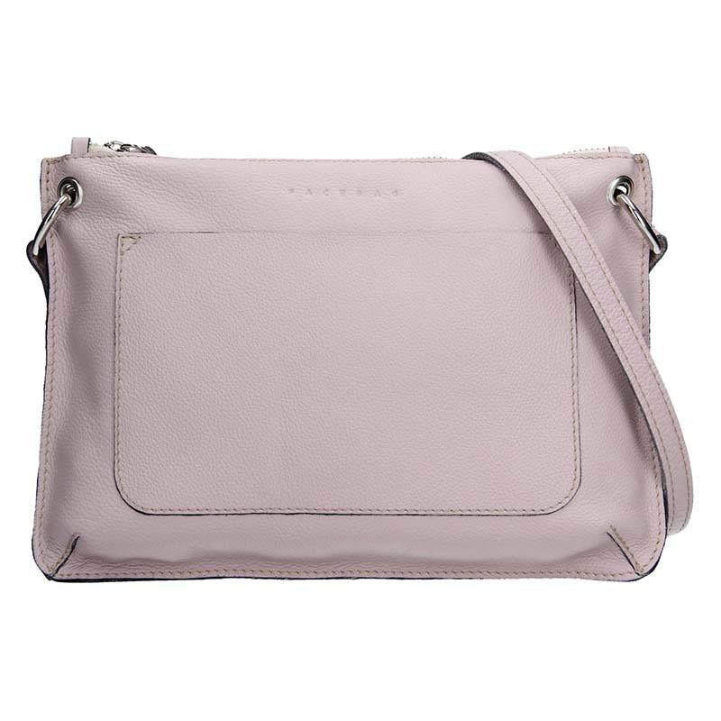 f977870348 Trendy dámská kožená crossbody kabelka Facebag Nicol - růžová
