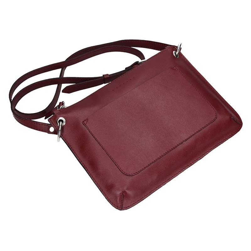 Trendy dámská kožená crossbody kabelka Facebag Nicol - růžová