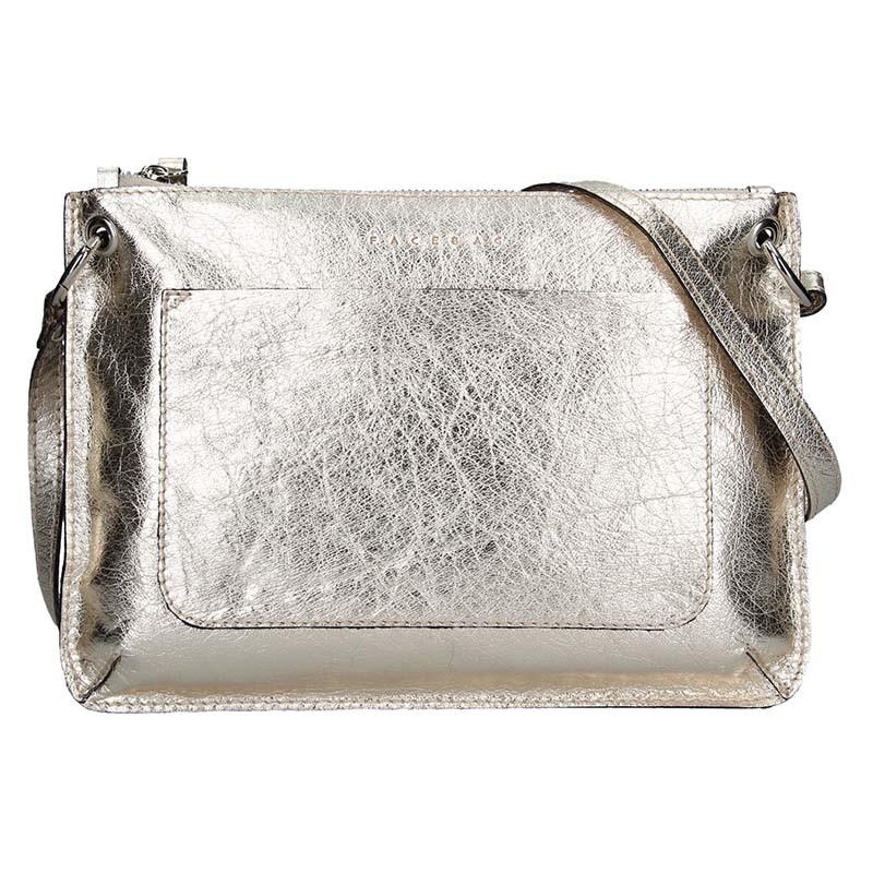 7ca55dde0b Trendy dámská kožená crossbody kabelka Facebag Nicol - zlatá