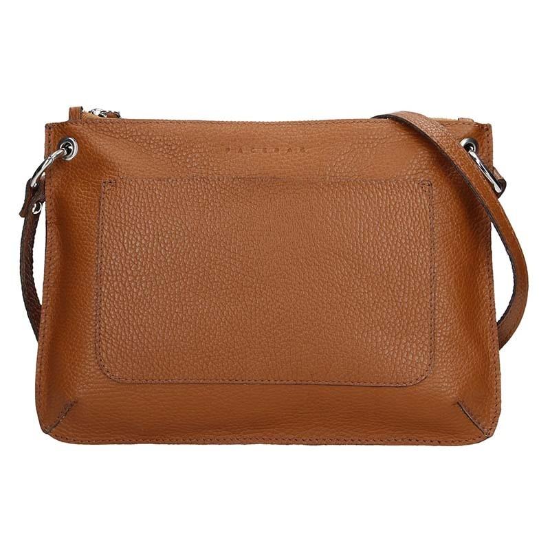 Trendy dámská kožená crossbody kabelka Facebag Nicol - hnědá da12f53f8a2