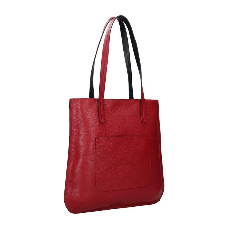 Dámská kožená kabelka Facebag Greta - černá