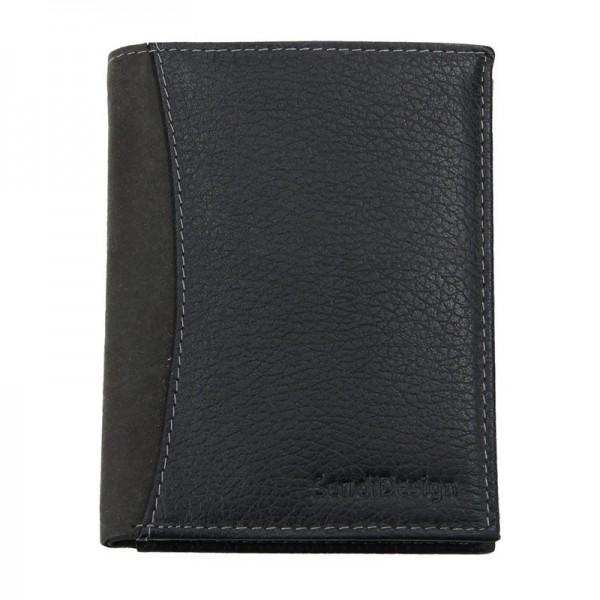 Pánská kožená peněženka SendiDesign 5502 FH - černá